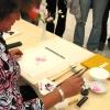 Демонстация искусства Суми-Э на выставке